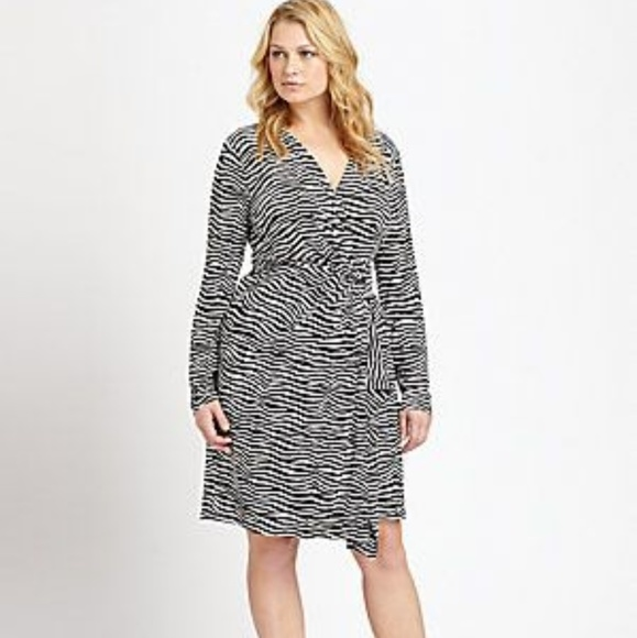 MICHAEL Michael Kors Dresses & Skirts - Michael Kors Zebra Faux wrap dress
